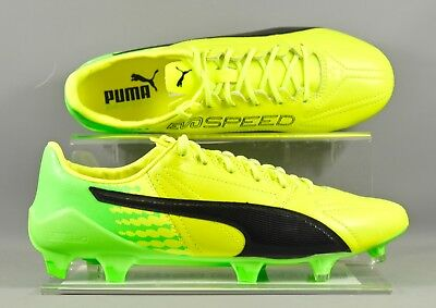 Puma (104303-01) Evospeed 17 SL LEA FG adults football boots - Yellow/Green