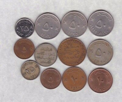 12 Coins From Muscat & Oman In Very Fine Or Better Condition