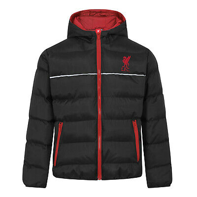 Liverpool FC Official Football Gift Boys Quilted Hooded Winter Jacket