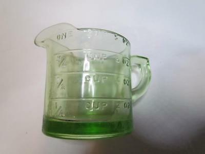 Vintage Green Pressed Glass 8 Oz One Cup Measure