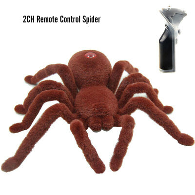 2CH Remote Control Spider Prank Toy Scary Halloween Christmas Gift for Trick NEW