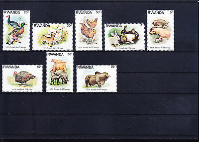054700 Vögel Birds ... Rwandaise 966-73 ** MNH Year 1978