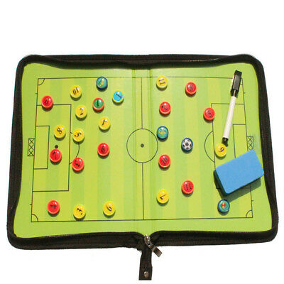 New Folding Magnetic Coaching Training Board Tactical Tactic Soccer Football Kit