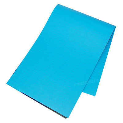3 x Memory Aid A4 Bright Blue 100 Page Paper Notepad Memo Lined Writing Pads