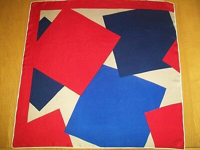 Bold & Striking Geometric Design Vintage Silk Scarf