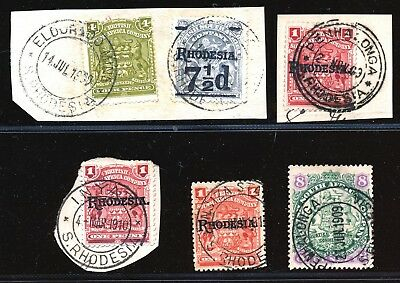 Rhodesia Early Arms Issues Fine Used O Piece. Postmarks !     A989