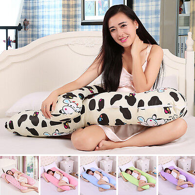Soft. Maternity Body Pillow Case U Shape Printing Pregnant Women Sleepers Pillow