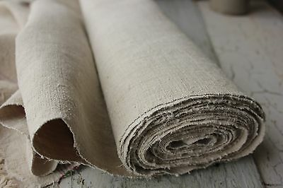 Vintage  European WASHED Linen 10.8YDS  material hand-woven WASHED cloth 25WIDE