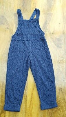 Mini Boden Girls Fabulous embroidered Long Dungarees. Size 3-4 years. Brand new.