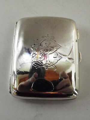 Antique Silver Cigarette Case Birmingham 1905 Ref 116/2