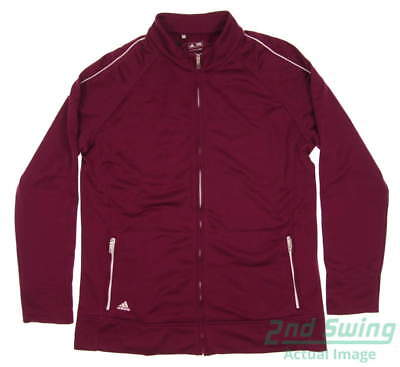 New Womens Adidas Golf Jacket Small S Burgundy MSRP $60