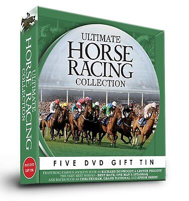Ultimate Horse Racing Collection 5 DVD Gift Tin Cheltenham Grand National + more