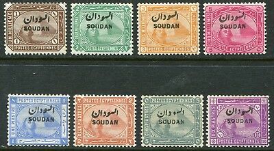Sudan 1897 opt. on Egypt 1m-10p SG 1-9 hinged mint (cat. £200)