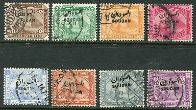 Sudan 1897 opt. on Egypt 1m-10p SG 1-9 used (cat. £100)