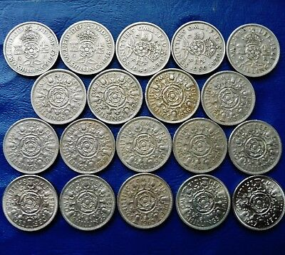 ONE ONLY UK Florin / Two Shillings - You Choose the Date or Dates