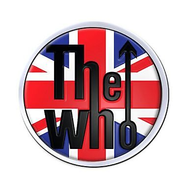The Who Union Jack classic band logo new Official Metal lapel Pin badge One Size