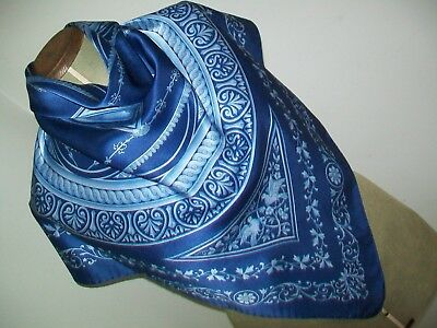 Frangi. Beautiful Classical / Grecian Influenced Design Vintage Silk Scarf