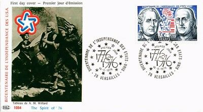 Dr Jim Stamps United States Bicentennial First Day Issue France Cover 1976