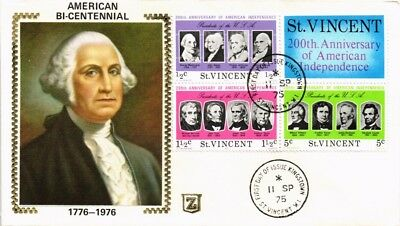 Dr Jim Stamps President Washington American Presidents Fdc St Vincent Cover
