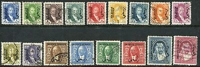 Iraq 1932 official set to 1d SG O.155-O.171 used (cat. £140)