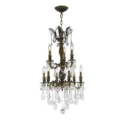 French Imperial Collection 9 light Antique Bronze Finish and Clear Crystal
