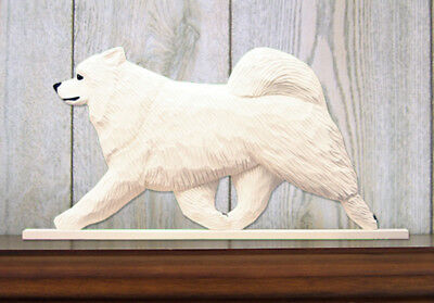 Samoyed Figurine Sign Plaque Display Wall Decoration