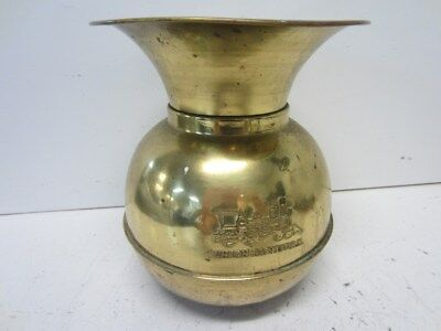 Vintage Union Pacific R.R. Railroad Weighted Brass Spitoon