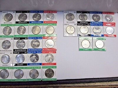 Thirty 2007 State Quarters P, D, & S Mints