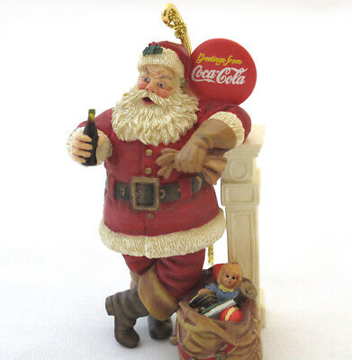 Danbury Mint Coca Cola Santa Chrtistmas Ornament Resting