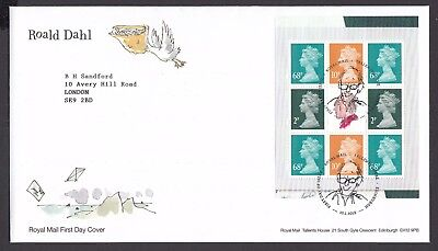 2012  Roald Dahl  Booklet Pane  - Cancel As Scan    Fdc   (4310)