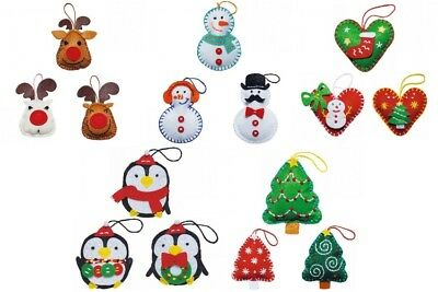 Pack Of Three Kleiber Christmas Decoration Felt Kits (Choose From Five)
