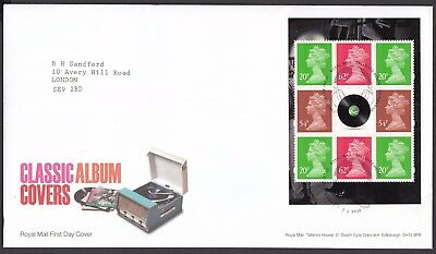 2010  Classic Album Covers  Booklet Pane  - Cancel As Scan    Fdc   (4321)