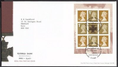 2006  Victoria Cross  Booklet Pane  - Cancel As Scan    Fdc   (4333)