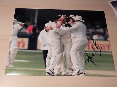 5th Ashes Test 1997 Cricket Legend Shane Warne hand signed press photo 10x8