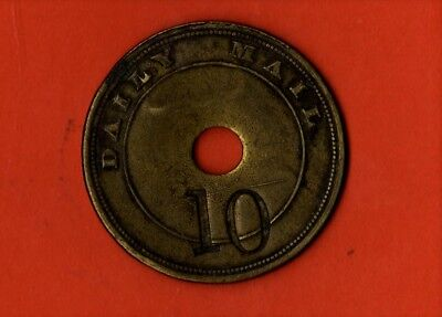 Daily Mail Brass Token Number 132    Vintage