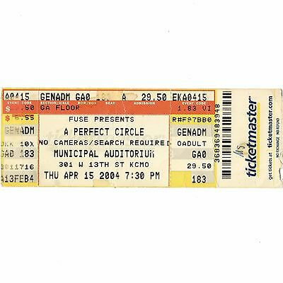 A PERFECT CIRCLE & THE MARS VOLTA Full Concert Ticket Stub 4/15/04 KANSAS CITY