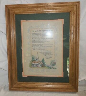 BEAUTIFUL Completed Dimmensions Amazing Grace Cross Stitch Professionally Frame