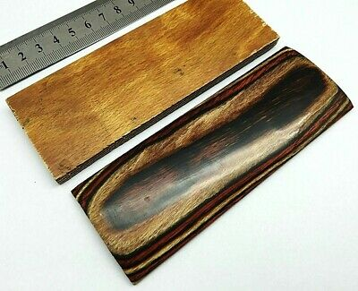 Pair of Multi Wood Scales for Knife Handle Making Blanks Crafts 14X5 cm MLT-WD