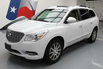 2017 Buick Enclave Leather Sport Utility 4-Door 2017 BUICK ENCLAVE LEATHER DUAL SUNROOF 7-PASSENGER 24K #161585 Texas Direct