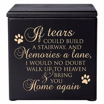Cremation Urn For Pet Ashes Medium Wooden Memorial Keepsake Box
