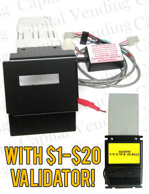 Rowe BC3500 $1-$20 Dollar Bill Changer Update Kit to MEI Mars validator BA50
