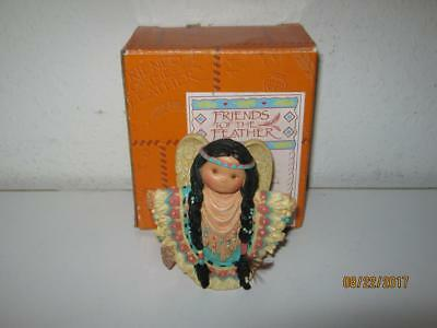 Enesco Friends Of The Feather-Great Spirit Guide-Girl Angel Figurine-With Box