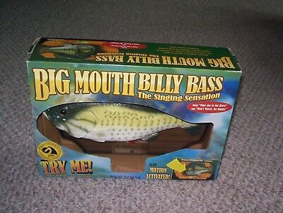 Gemmy 2000 Big Mouth Billy Bass Singing Motion Activated Working Fish
