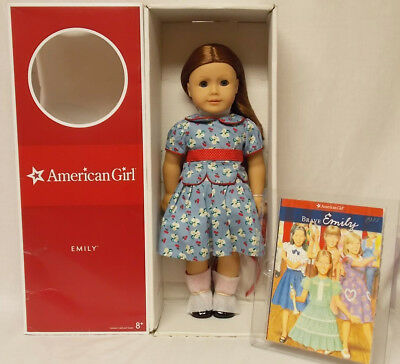 American Girl EMILY DOLL 18 INCH & BOOK Historical Blue Eyes Clothes NEW