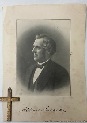 The Lincoln Family Cross President Abraham Relative Allen In-Laws Photograph