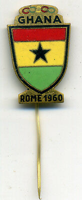 Olympic Games Roma 1960 (5) Ghana Official Pin Badge Xvii Olimpiade