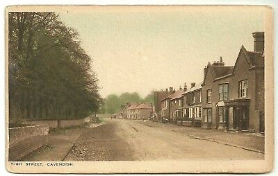 Suffolk postcard High Street Cavendish