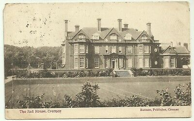 Norfolk postcard Cromer The Red House