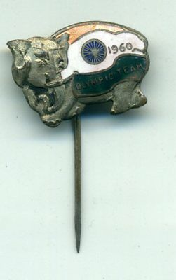 Olympic Games Roma 1960 (7) India Olympic Team Official Pin Badge Xvii Olimpiade