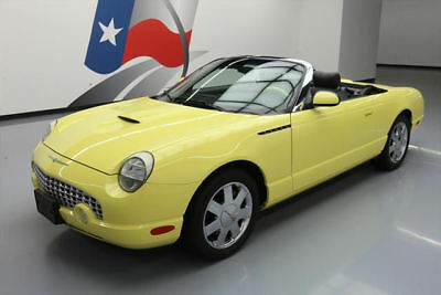 2002 Ford Thunderbird Base Convertible 2-Door 2002 FORD THUNDERBIRD HARD TOP DELUXE LEATHER 25K MILES #119360 Texas Direct